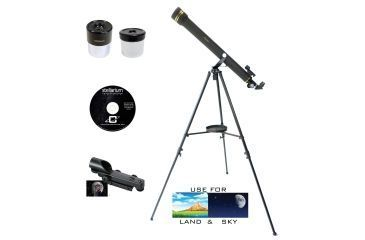 Galileo refractor telescope 1.25in 6mm eyepiece 20mm eyepiece 50
