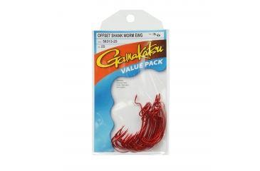 Gamakatsu EWG Shank Red Worm Hook - Size 3/0 042721