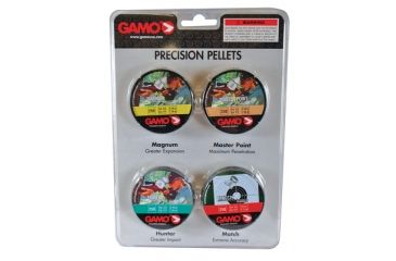 Gamo Air Rifles Performance Lead Pellet Combination .177 Caliber Round BB/Match/Magnum and Hunter 1000 Count 632092754