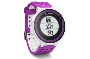 Garmin Forerunner 220 white/violet bundle GPS running watch 010-01147-31