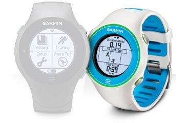 Garmin Forerunner 610 Special Edition Touchscreen GPS Watch, White 010-00947-14