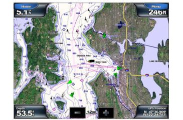 Garmin GPSMAP 5008 w/Ext GPS sensor, worldwide satellite imagery, g2 Vision compatible 010-00593-00