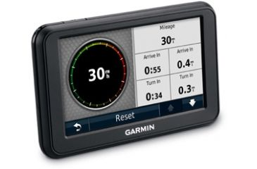 Opplanet Garmin nuvi 50 Angle Image of Mileage And Time
