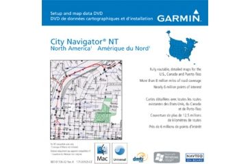 Garmin On the Road Maps GPS City Navigator North America NT