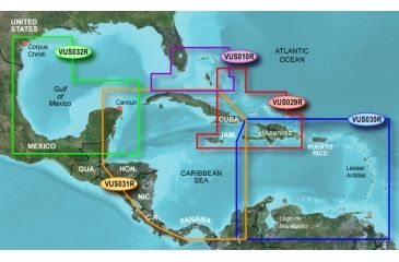 Garmin On The Water GPS Cartography BlueChart g2 Vision: Caribbean & Central America Regular Map w/ Free S&H