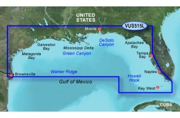 Garmin On The Water GPS Cartography BlueChart g2 Vision: Gulf of Mexico Large Map 010-C0744-00 w/ Free S&H