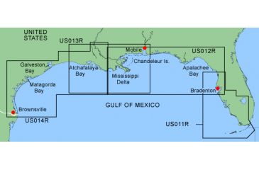 Garmin On The Water GPS Cartography BlueChart: Gulf of Mexico ... on