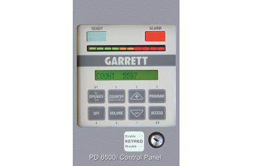 Garrett PD6500i Walk-Through Metal Detector - Control Panel