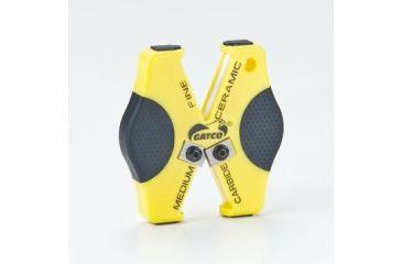 Gatco Sharpeners Double Duty Sharpener, Yellow 6402
