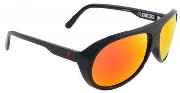 Gatorz Elyblk13mBk Ely Black Frame Red Sunburst Lens Sunglasses