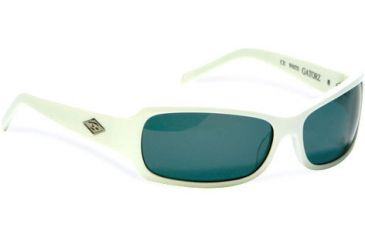 Gatorz Avalon Sunglasses, White Frame, Grey Lens