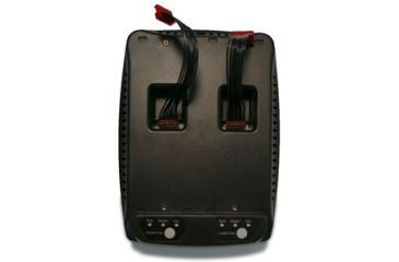 General Dynamics Universal 2-Bay Battery Charger - Base Only, Battery Holders Sold Separately (GD8200), Black 62-0629-001R