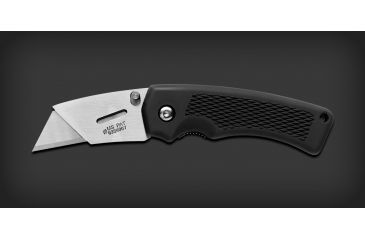 Gerber Edge Folding Clip Knife Black Rubber Handle Clam 31 000668