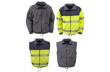Gerber Outerwear Cambio Reversible Convertible Jacket-Vest, Navy - Lime, XSR 71C1/L XSR