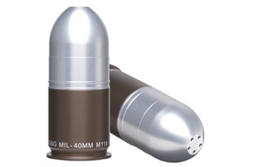 Gg G Ggg 1316 40mm Grenade Salt Pepper Shaker Silver Projectile