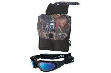 2-PC Ride with the Wind Motorcycle Fan Gift Package - Wiley-X SG-1 Sunglasses 73, Tamarack ATV Tank Saddle Bag SBTB-B