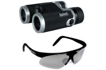 2-PC Sport View Sports Fan Gift Package - Bushnell 8x32 Hemisphere Roof Prism Fully Coated Binoculars 160833, Bolle Sport Vigilante Sunglasses with Interchangeable Lenses 10237