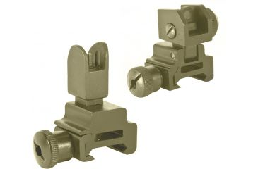 3-Global Military Gear Front and Rear Flip-up Sight Combo for AR15-M4