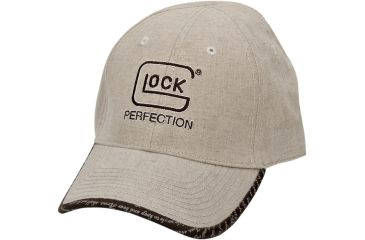 1-Glock AS00080 2nd Amendment Perfection Hat Adjustable Linen Tan