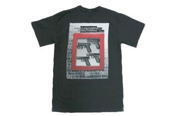 Glock Black Short Sleeve T-Shirt With In Case of Emergency Slogan, Medium