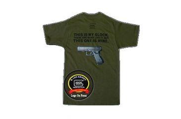 Glock GA10012 My Glock Short Sleeve T-Shirt XXX-Large Black Cotton