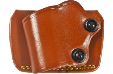 Gould & Goodrich 801 Yaqui Slide Holster, Chestnut, Left Hand - .22, .380 Pistols 3-4in BBL