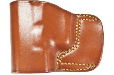 Gould & Goodrich 891 Belt Slide Holster, Chestnut Brown, Left Hand - Glock 30/39 & Similar