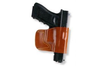 Gould & Goodrich 891 Belt Slide Holster, Chestnut Brown, Left Hand - Springfield XD4, Beretta PX4