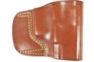 Gould & Goodrich 891 Belt Slide Holster, Chestnut Brown, Right Hand - Glock 17/22/31/23 & Similar