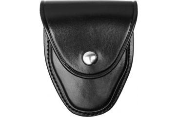 Gould & Goodrich B670 Leather Model 1 Handcuff Case, Plain Black, Standard Snap