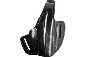 Gould & Goodrich B802-G27 Two Slot Pancake Holster, Black