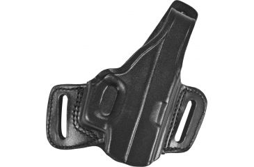 Gould & Goodrich B809 Belt Slide Leather Thumb Break Holster, Black, Right Hand - Glock 17/19/23 & Similar