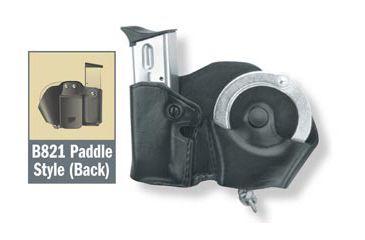 Gould & Goodrich B821 Cuff/Magazine Pouch, Black, Left Hand - Beretta 83/85, Kahr Micro MK9