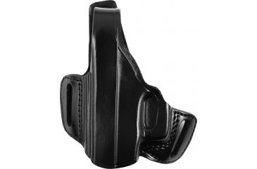 Gould Goodrich Belt Slide Leather Thumb Break Holster, Black, Left B809G17LH
