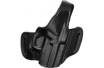 Gould & Goodrich B809 Belt Slide Leather Thumb Break Holster, Black, Right Hand - Sig P229/220/226 w/Rail