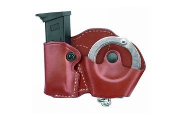 Gould & Goodrich Cuff/Magazine Case, Left Hand, Chestnut Brown - Beretta 84, 9mm & Similar