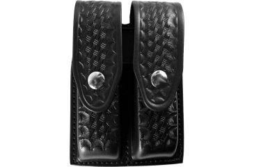Gould & Goodrich B627 Double Magazine Case, Basket Black, Standard Snap - 1911 Single Stack