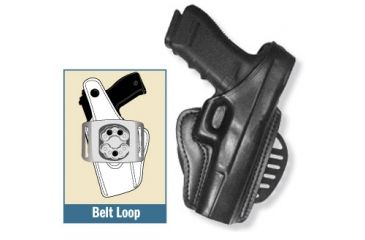 Gould & Goodrich Gold Line Paddle Concealment Holster, RH B807-PM9