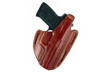 Gould & Goodrich Three Slot Pancake Holster, Chestnut Brown, Right Hand - S&W M&P 9mm/.40/.357 Compact