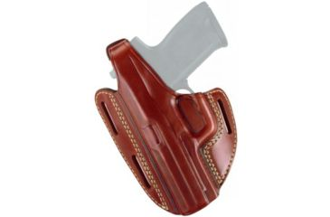 Gould & Goodrich Three Slot Pancake Holster, Chestnut Brown, Right Hand - Springfield XD4 9mm