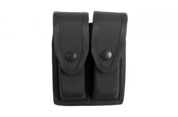 Gould & Goodrich X627-4 Double Magazine Case, Black Ballistic Nylon - Glock 20/21