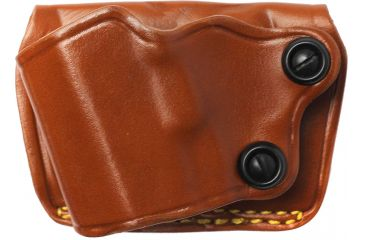 Gould & Goodrich 801 Yaqui Slide Holster, Chestnut, Left Hand - 1911-Style 3-5in BBL