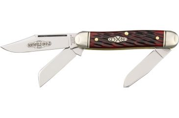 Great Eastern Stockman Folding Knife,Clip/Spey/Sheepsfoot Blade, Red Jigged Bone Handle GEC661312R