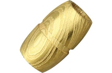 Grindworx Damascus Steel Bead, Grooved Barrel, Gold DA06G