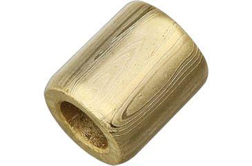 Grindworx Damascus Steel Bead, Straight Barrel, Gold DA05G