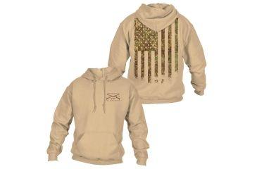 5eca11ce Grunt Style Men's Woodland Camo Flag Hoodie, Woodland Camo, Large GS1823-L