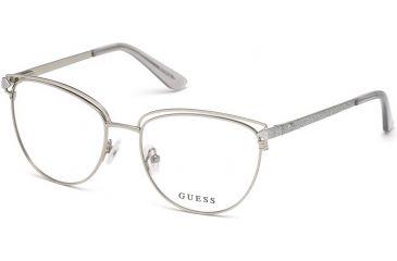 089c9429eb Guess GU2685 Eyeglass Frames - Shiny Light Nickeltin Frame Color