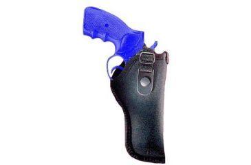 Gunmate Black Hip Holster, 2in Belt Loop, 4-6.5in bbl Med/Large Frame Revolvers 21034, Clam