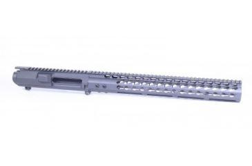 1-GUNTEC USA AR .308 Cal Stripped Billet Upper Receiver & 15in Ultralight Series Keymod Handguard Combo Set