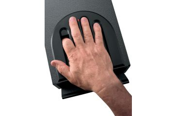 GunVault Bio MultiVault Biometric Pistol Safe w/ Fingerprint Recognition, 10.1x7.9x14in